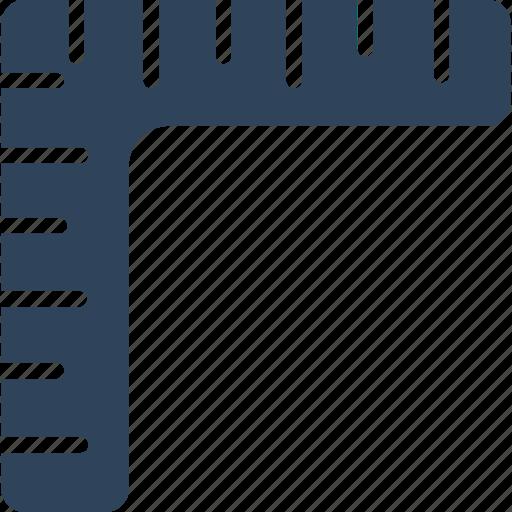 decimal ruler, geometrical, measure, ruler icon