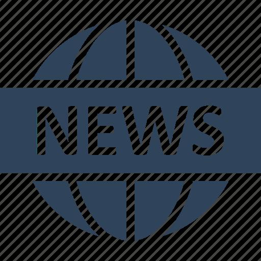 communication, electronic media, international, news icon