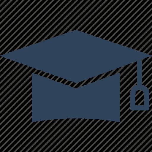 awarded cap, commencement, degree cap, graduate cap icon
