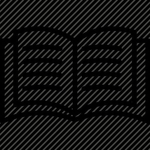 book, education, open book, reading icon