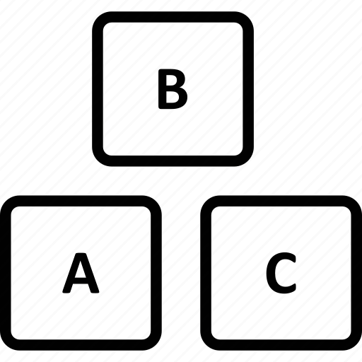 abc block, alphabet blocks, basic english, early education icon