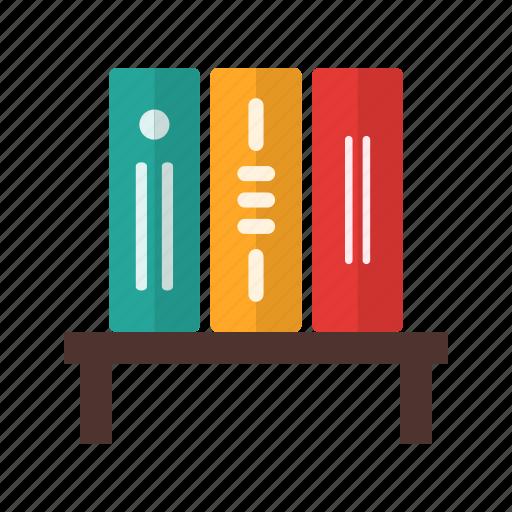 bookshelf, college, library, literature, science, university icon