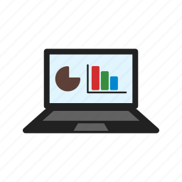bar, chart, mobile, online, pie, stats, technology icon