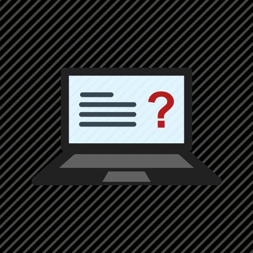 computer, education, exam, internet, online, test, testing icon