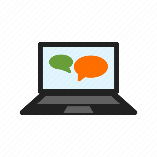 chat, communication, conversation, online, screen, video icon