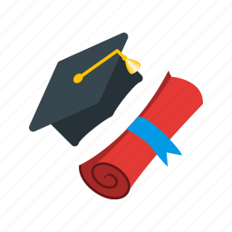 cap, college, diploma, education, graduation, students, university icon