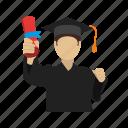 degree, education, graduates, graduation, students, university icon