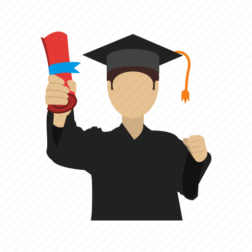 degree, education, graduates, graduation, students, university icon
