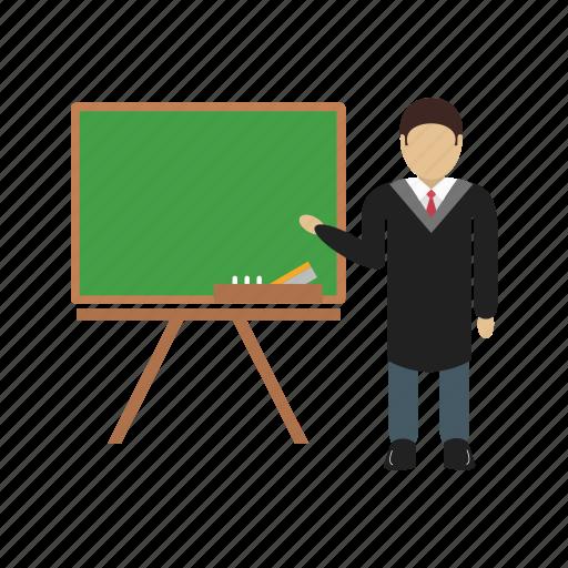 male, man, person, professor, teacher, whiteboard, writing icon