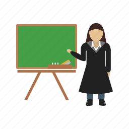 female, person, professor, teacher, whiteboard, woman, writing icon