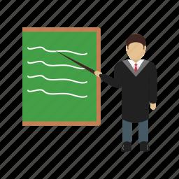 male, man, presentation, presenter, professor, training icon
