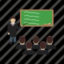 algebra, class, classroom, high, school, teacher icon