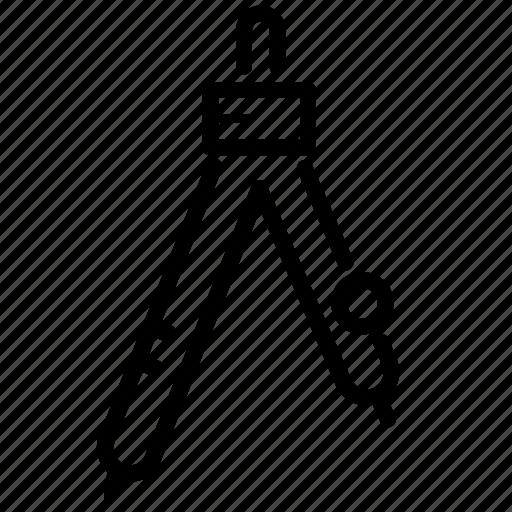 bow, circle, circles, education, school, stationery, tools icon