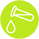 experiment, lab, lab test, laboratory, liquid, science, test tube icon
