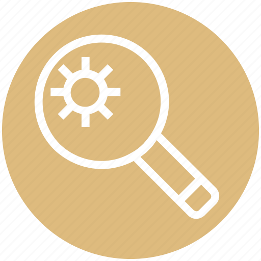 Analysis, atom, magnifier, research, science icon - Download on Iconfinder