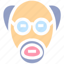bookish, career, character, man, professor, science, scientist icon