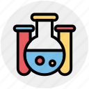 experiment, flask, lab, laboratory, liquid, science, test tube