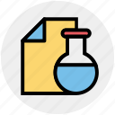 chemical, flask, lab, laboratory, liquid, science, test tube