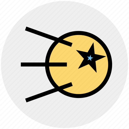 falling star, planets, rocket, science, space, star, universe icon