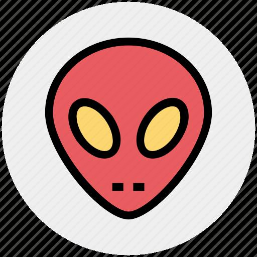 Alien, avatar, face, mask, robot, robotics, science icon - Download on Iconfinder