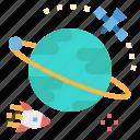 globe, orbit, planet, ship, space