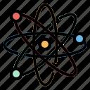 atom, atomic, education, nuclear, physics icon