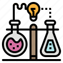 chemical, flask, flasks, laboratory, mix icon