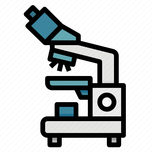education, medical, microscope, observation, science icon