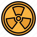 alert, energy, nuclear, power, radiation icon