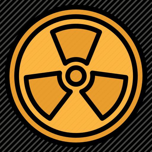 alert, energy, nuclear, power, radiation icon