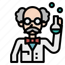 flask, lab, man, research, scientist