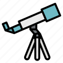 microscope, observation, science, space, telescope icon