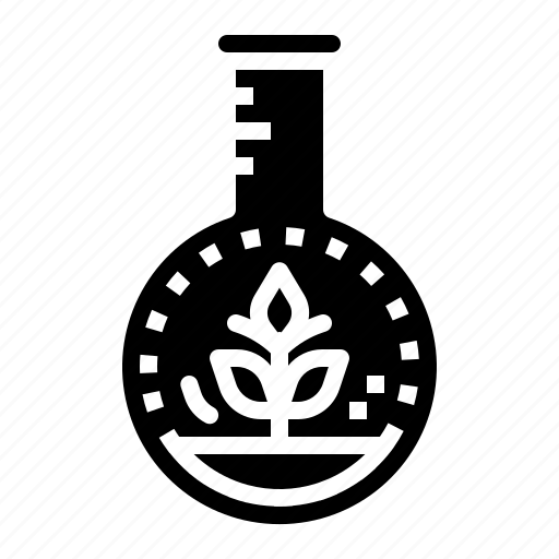 biology, education, experiment, flask, sprout icon