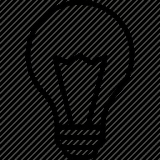 bright, bulb, electricity, idea icon