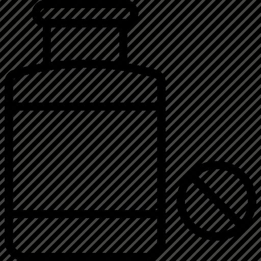 medical treatment, medication, medicine jar, pill jar icon