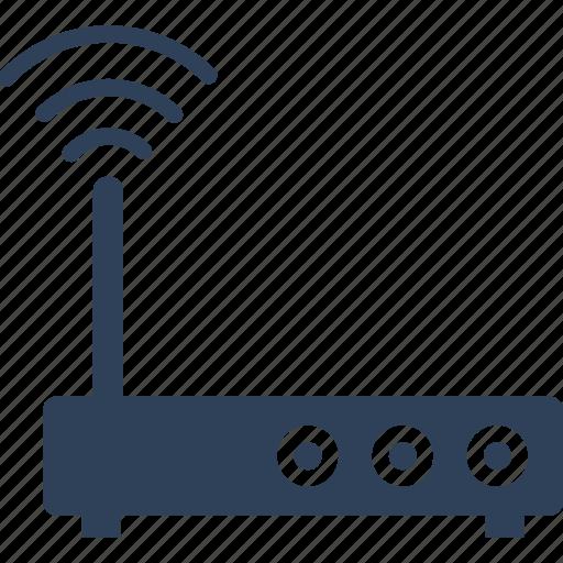 internet, modem, router, signals icon