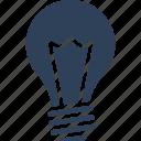 bright light bulb, bulb, idea, innovation icon
