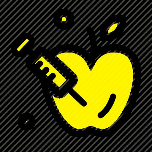 apple, gravity, science icon