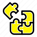 jigsaw, puzzle, science, solution icon