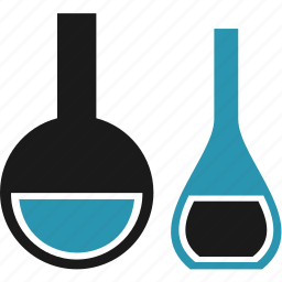 bottle, bulb, flask, science icon