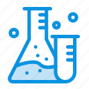 flask, lab, science, tube icon
