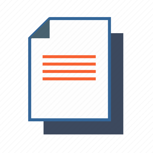 document, file, notes, page, paper, report icon