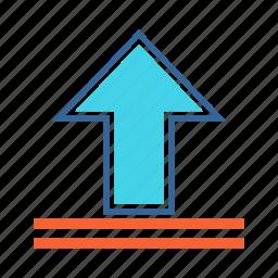 arrow, upload, upward arrow icon