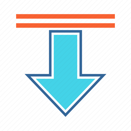 access, arrow, download, downward icon