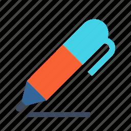 line, marker, pen, pencil, write icon