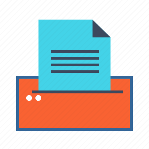 document, print, print out, printed, printer icon