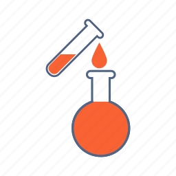 chemical, chemistry flask, experiment, flask, laboratory, pour chemical, test tube icon