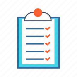 board, checklist, clipboard, document, list, notes icon