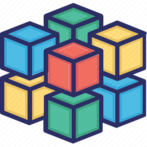analytics, array, big data, data, olap icon