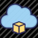 cloud, isometric box, storage icon
